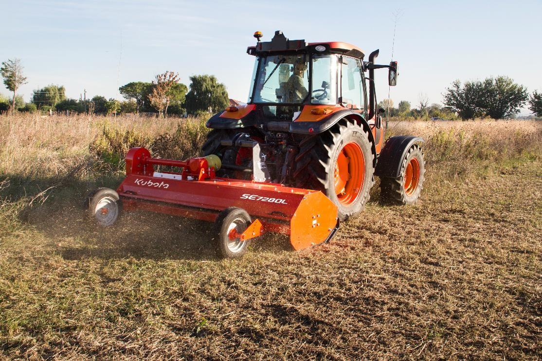 Kubota põllumajanduslik külgnihkega jäätmaaniiduk töölaiusega 2,8m SE7280L