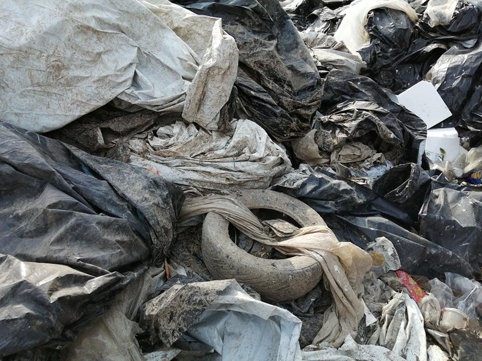 Halb näide – põllumajandusplasti jäätmed segamini muude jäätmetega. Foto: EPKK